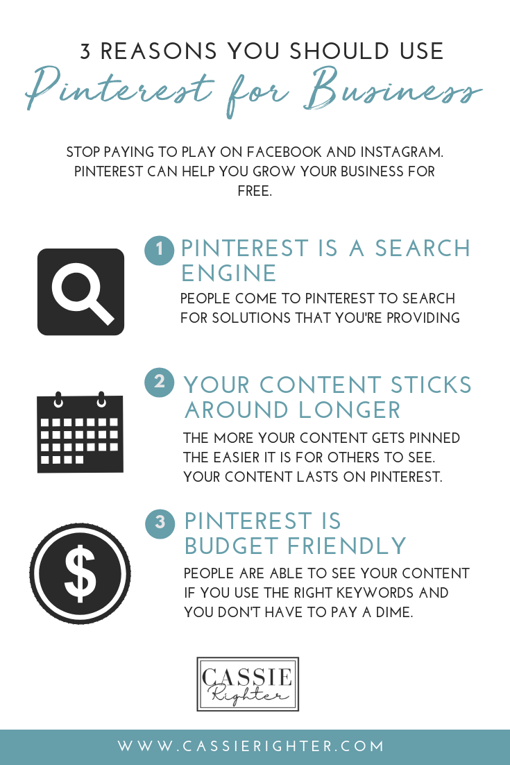 3 Reasons Why You Should Use PINTERST FOR BUSINESS INFOGRAPHIC PIN