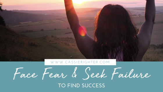 face fear and seek failure to find success blog post