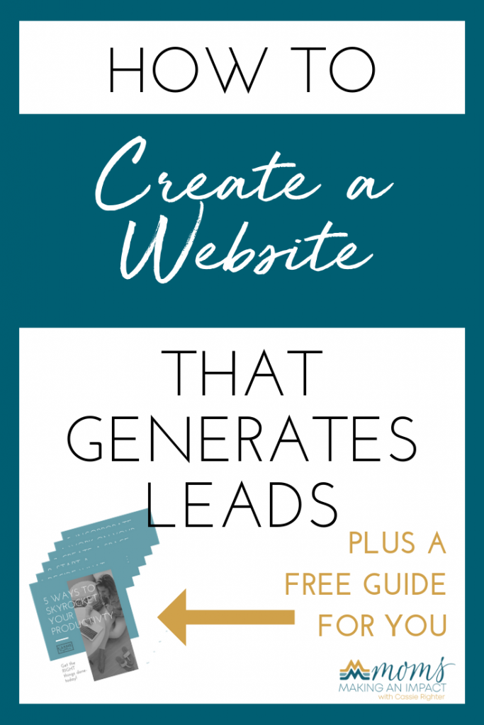 How to create a website that generates leads pin image