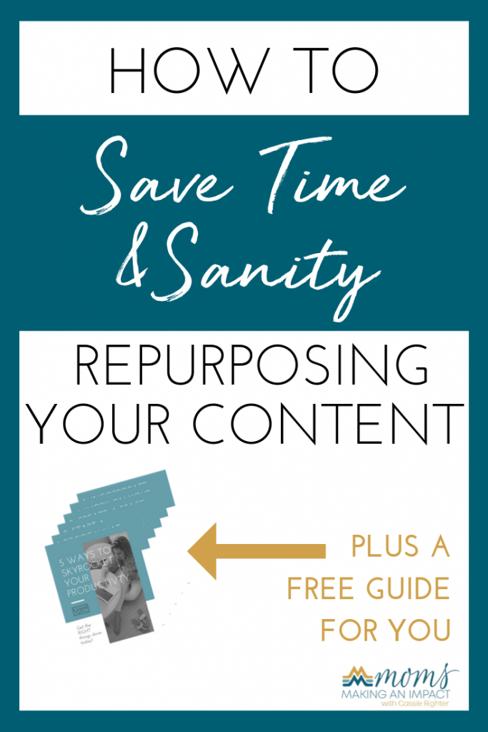 Episode 17: How to Save Time and Sanity by Repurposing Your Content with Kendall Patton Pin Image