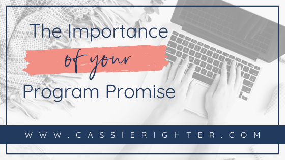 The Importance of Your Program Promise blog cover